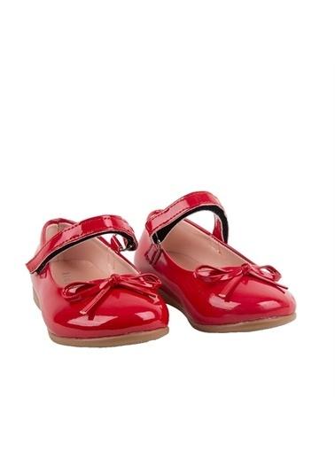 Kids A More Jessica Tek Cırtlı Pu Deri Kız Çocuk Babet Ayakkabı  Kırmızı